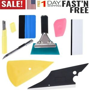 Pro Car Window Tint 8pc Kit Wrapping Vinyl Tools Squeegee Scraper Applicator Us