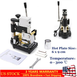 Hot Foil Stamping Printing Machine Pvc Card Stamp Bronzing 6 X 9 Cm Hot Plate Us