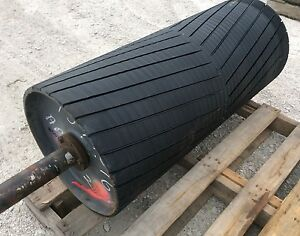 36 Drive Roller 36 Inch Conveyor Rubber Lagged Head Roller Coal Gra