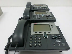 Lot 3 Cisco Cp 7960g Ip Voip Business 2 line Phones Tested