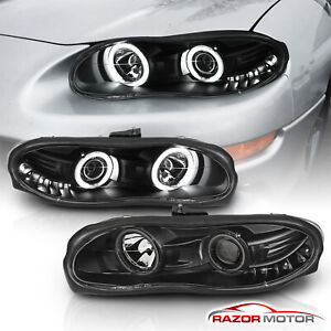 dual Ccfl Halo 1998 1999 2000 2001 2002 Chevy Camaro Projector Headlights Pair
