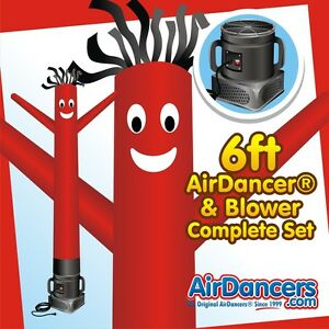 Red Air Dancer Blower 6ft Sky Dancer