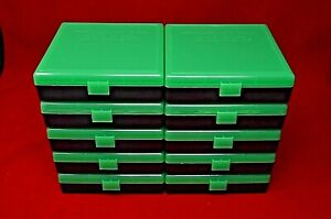 (10) X 45 ACP  40  10MM PLASTIC AMMO BOXES (ZOMBIE GREEN COLOR) BERRY'S MFG