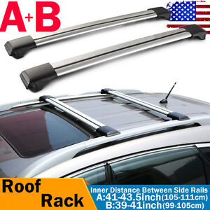 2x Universal Car Roof Rack Top Rails Crossbars Luggage Snowboard Carrier Lock