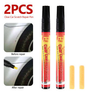 2pc Car Clear Scratch Remover Touch Up Pens Auto Paint Repair Pen Brush New