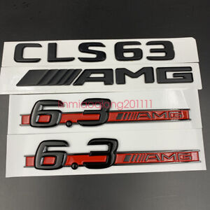 Gloss Black Cls63 Amg 6 3 Amg Letters Trunk Embl Badge Sticker For Mercedes Benz