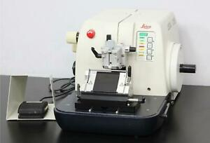 Leica Rm2155 Motorized Rotary Microtome W Foot Switch Low profile Blade Holder