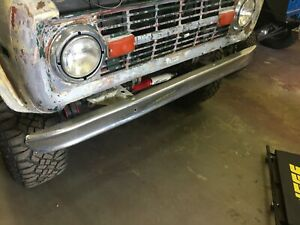 Set Of Front And Rear Chrome Oem Bumpers For 1966 77 Early Bronco