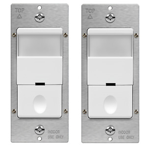 Motion Sensor Light Switch Auto Occupancy Detector Ground Wire Required 2 Pack