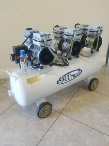 3hp 18 Gallon Noiseless Oil free Air Compressor 110v sold As is