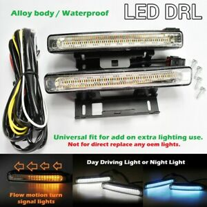 3 Color 54 Led Drl Bumper Sequential Signal Running Fog Light Universal Toyo