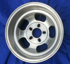 Vintage Mickey Thompson Medallion Slotted Aluminum 5 Lug Variable 15x8 5 Wheel