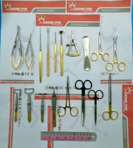 Blepharoplasty Instruments Set Of 19 Pcs Eye Surgery Set Plastic Surgery