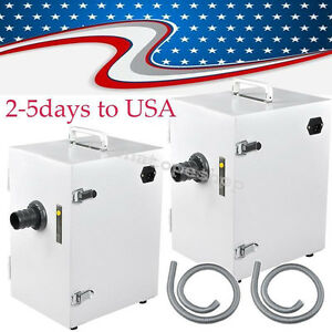 2pcs Dust Collector Single row Collecting Vacuum Cleaner For Dental Lab Industry