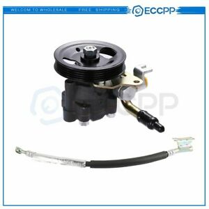 For 99 03 Nissan Maxima New Power Steering Pump With Pulley Pressure Hose Line