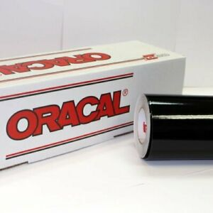 Oracal 651 Glossy Vinyl Roll 24 24 X 30 Ft On 3 Inch Core X 30 Black