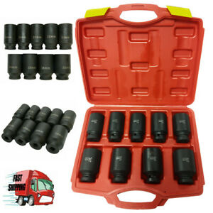 9pc 3 4 Inch Deep 6pt Impact Socket Metric Set 26mm 38mm For Car Auto Truck Us