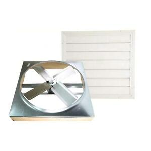 Whole House Fan 24in Direct Drive W Shutter Cool Attic Air Ventilation 2 Speed