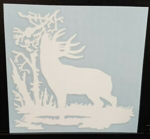 Deer Sticker Decal Big Buck At Scrape Hunting Truck Car 5x5 Inch