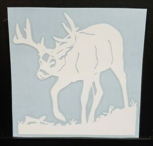 Deer Sticker Decal Hunting Sticker Walking Buck Truck car 5x5 Inch 18