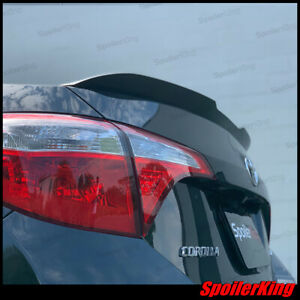 Spk 284gc Rear Trunk Spoiler W center Cut fits Toyota Corolla 2014 2019