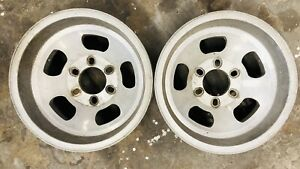 2 Used 6 Lug Aluminum Slotted Wheels Size 15x8 5 Lug Pattern 6 On5 5