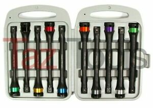 10pc Torque Extension Bar 1 2 Dr Color coded Impact Extension Bars Set Cr mo