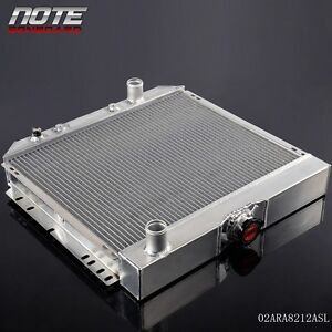 For 67 70 Ford Mustang Falcon Torino V8 3 Core Mt 20 Aluminum Racing Radiator