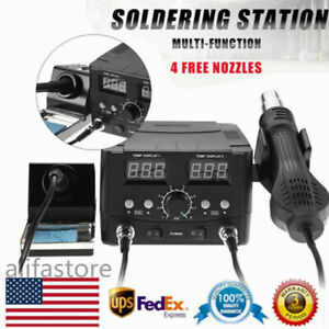 3 In 1 Solder Station Digital Soldering Desoldering Iron Smd Hot Air Gun A