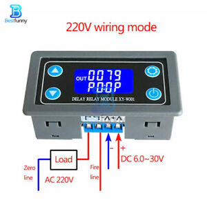 Xy wj01 1ch Delay Relay Module Digital Lcd Display Cycle Timing Circuit Switch