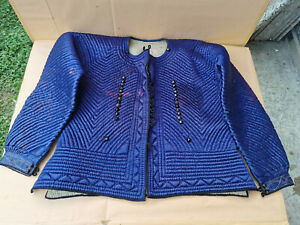 Old Antique Primitive Womens Ottoman Blue Vest Coat Ottoman Empire Early 20th