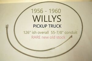 1956 1960 Willys Pickup Truck Emergency Parking Brake Cable Antique Bx 1035