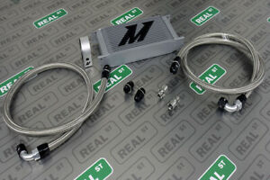Mishimoto Universal Oil Cooler Kit 19 Row With Sandwhich Plate Fittings Line