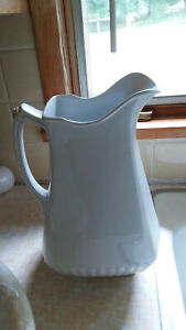 Antique Powell Bishop Ironstone Pitcher 12 Tall England 1867 1878