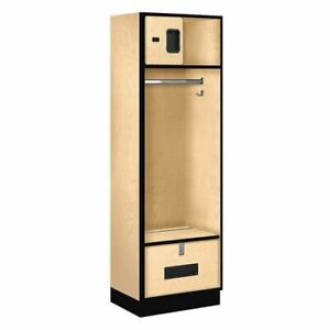 Salsbury Industries 30018map Open Access Locker 24wx76hx18 d maple