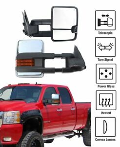 L r Power Heated Led Signal Tow Mirrors For 14 18 Chevy Gmc 1500 2500 Hd Dynamic