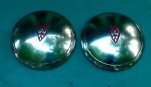 Two 1939 To 1942 Oldsmobile Dog Dish Hubcaps Pair Of Olds 39 40 41 42 Hubcaps