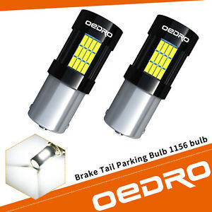Oedro 2x 6000k White 1156 Led 54 Smd Ba15s Brake Tail Parking Bulb 1141 1073
