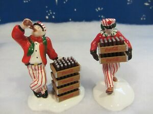 Dept 56 COCA COLA DELIVERY MEN - Snow Village -  2 piece set  #54801  (h819)