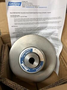 "Lovejoy Variable Speed Pulley 7020 58"" Reeves Style Motor Drive"