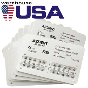 Usa 200 Kits Z Dental Orthodontics Brackets Braces Mini Roth 018 3 4 5 Hooks D