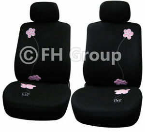 Floral Design Front Bucket Seat Covers For Auto Car Suv Van