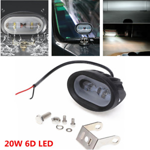 1pc High Power 20w Car Led Work Light 6d White Spot Driving White Light Fog Lamp