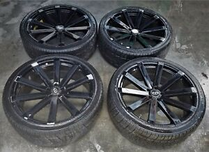2009 Infiniti Fx35 22 Inch Wheel Rims W Tires Set Of 4 Ml7 Wh102