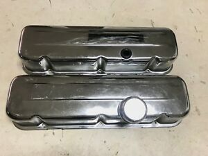 Mr Gasket Chrome Big Block Chevrolet Chevy Tall Valve Covers