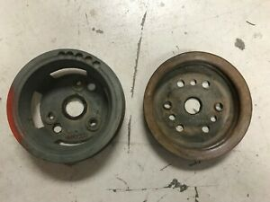1963 68 Gm Chevrolet 327 350 Crankshaft Pulleys 3923898 3744043 Camaro Corvette