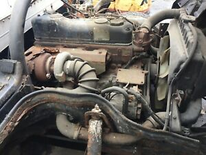 Mitsubishi Fe Hd 4d34 Engine Complete Take Out