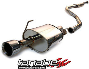 Tanabe Medalion Touring Cat back Exhaust 96 00 Honda Civic Coupe Si