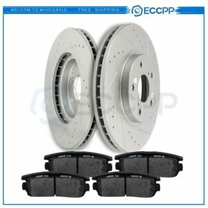 Front Brake Discs Rotors And Ceramic Pads For Chevrolet Captiva 12 15 Drill Slot