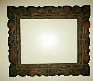 Vintage Ornate Handcarved Small Wooden Picture Frame 12x14